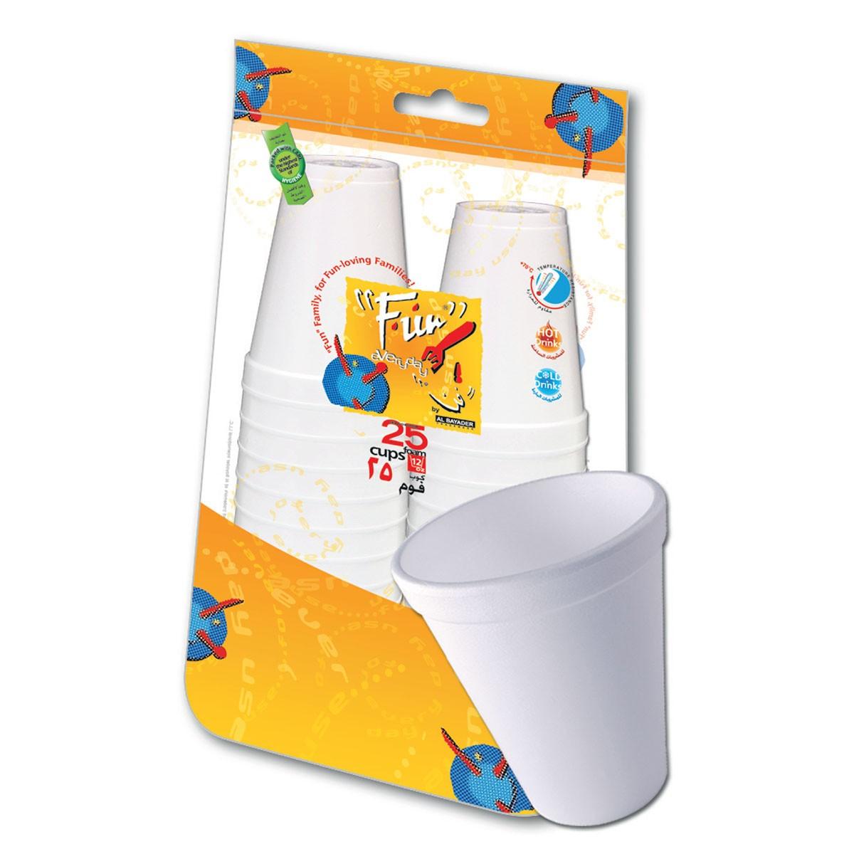 Fun® Foam Cup 12oz - White   25pcsx40pkts