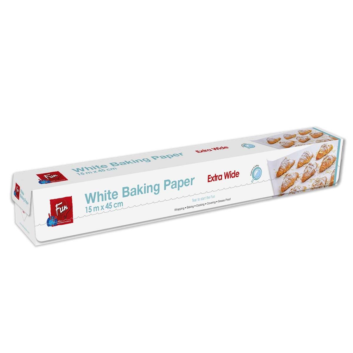 Fun® Silicon-Coated Baking Paper Roll 15mx45cm - White | 1rlx12pkts