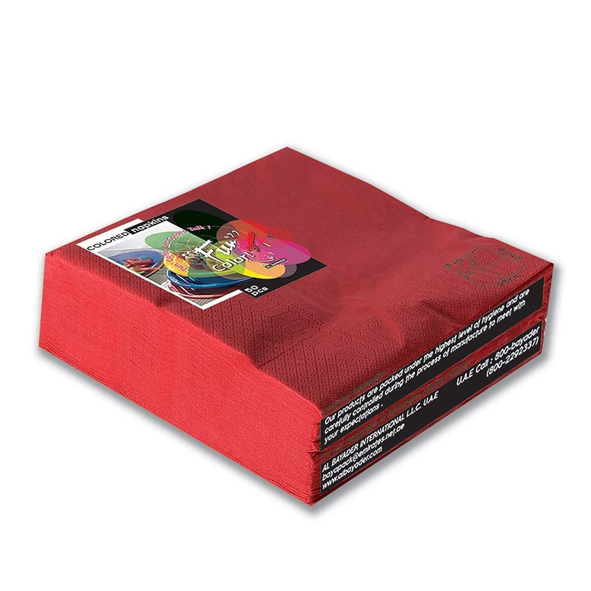 Fun® 2-Ply Napkin 40x40cm - Red   50pcsx20pkts