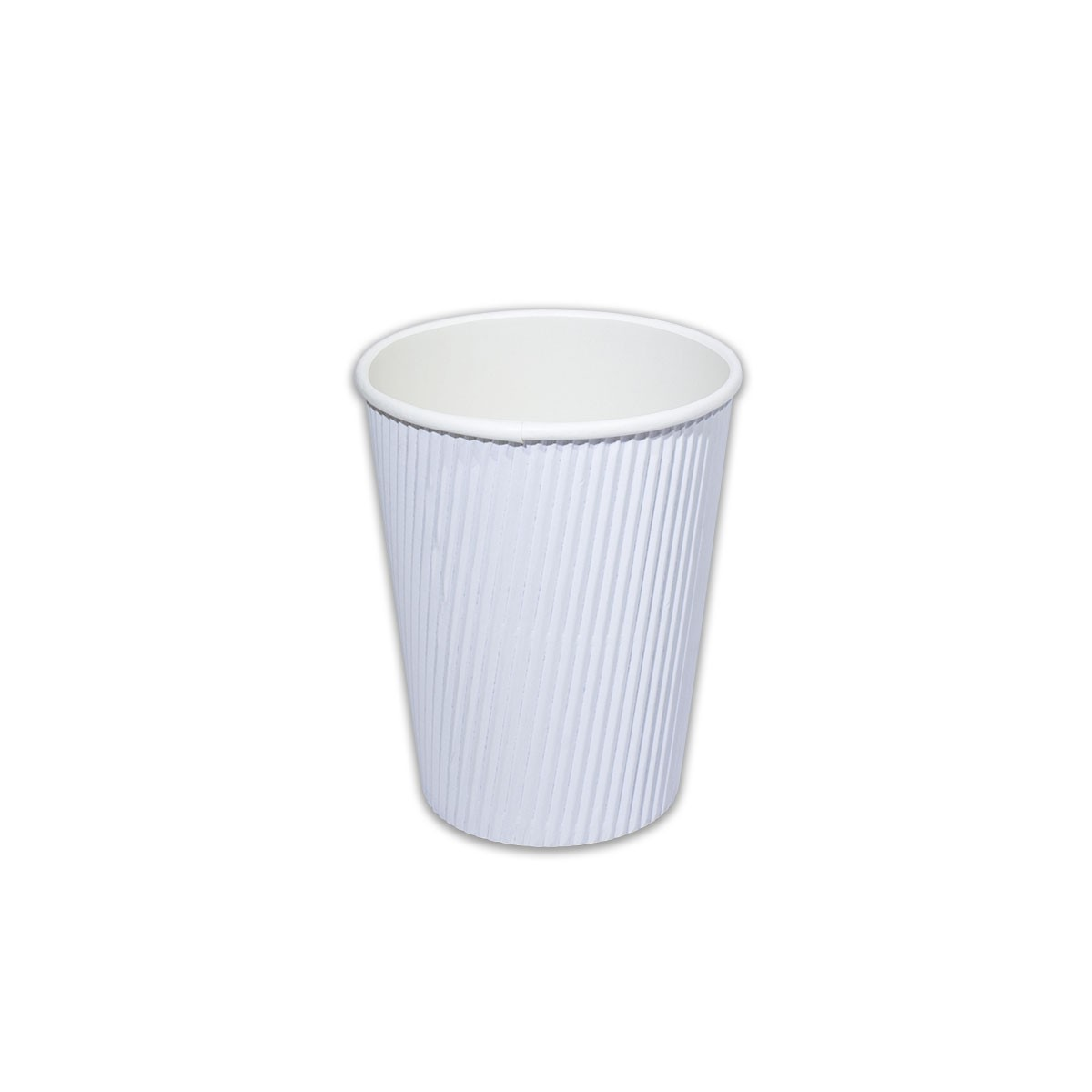 Ruffles Insulated Paper Cup 12oz - WHITE | 1000pcs