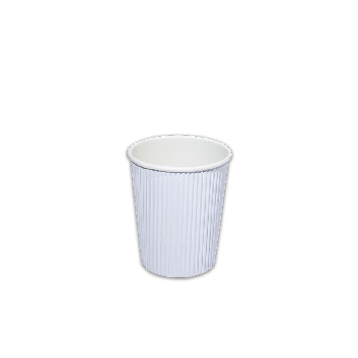 Ruffles Insulated Paper Cup 8oz - White | 1000pcs