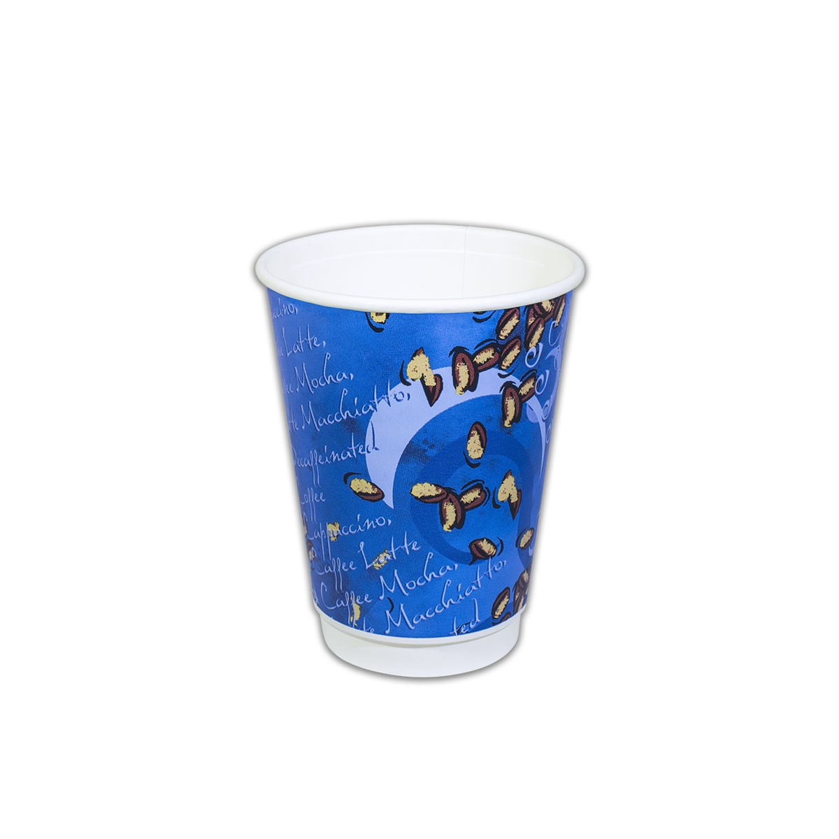 Blue Night Insulated Paper Cup 12oz | 100pcsx10pkts