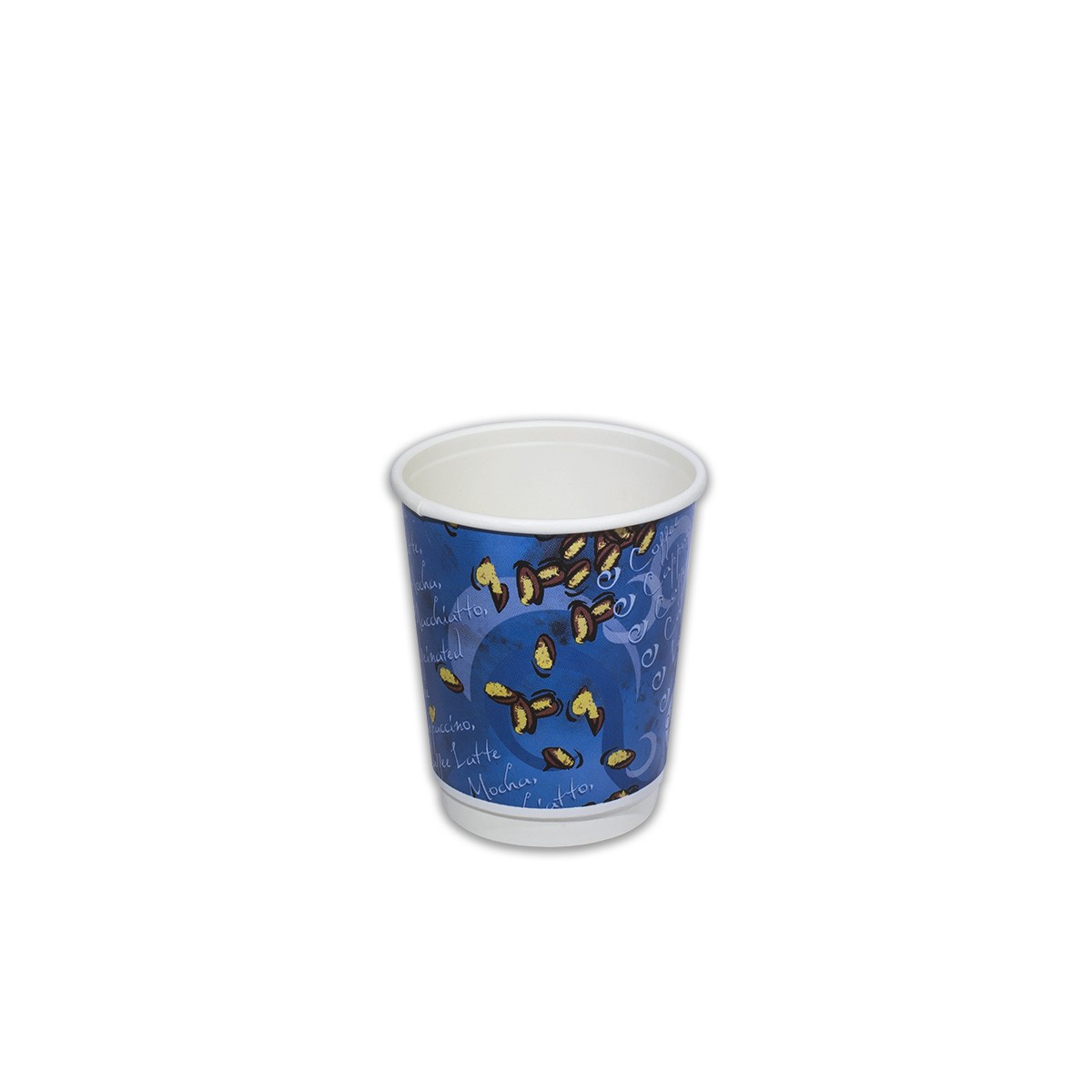 Blue Night Insulated Paper Cup 8oz | 100pcsx10pkts