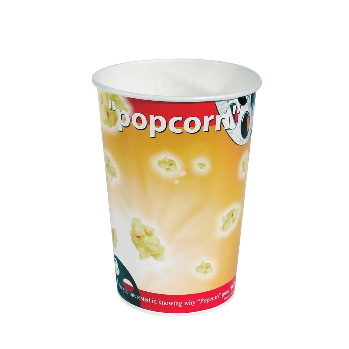 Cardboard Popcorn Pack 46oz - Cinema | 50pcsx10pkts