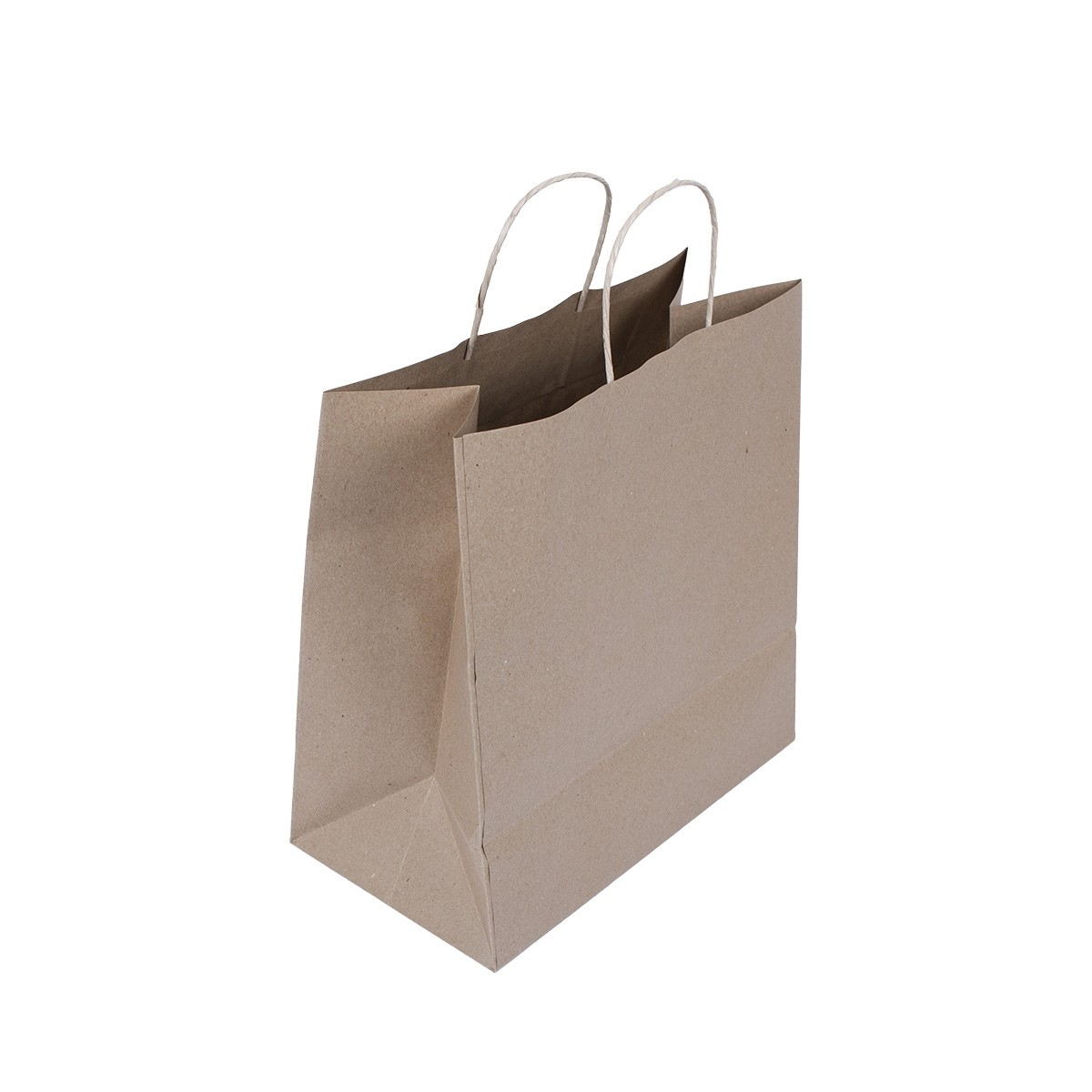 Brown Carry Bag w/ Twisted Handle 29x29+12cm Plain 100gsm- Medium | 250pcs