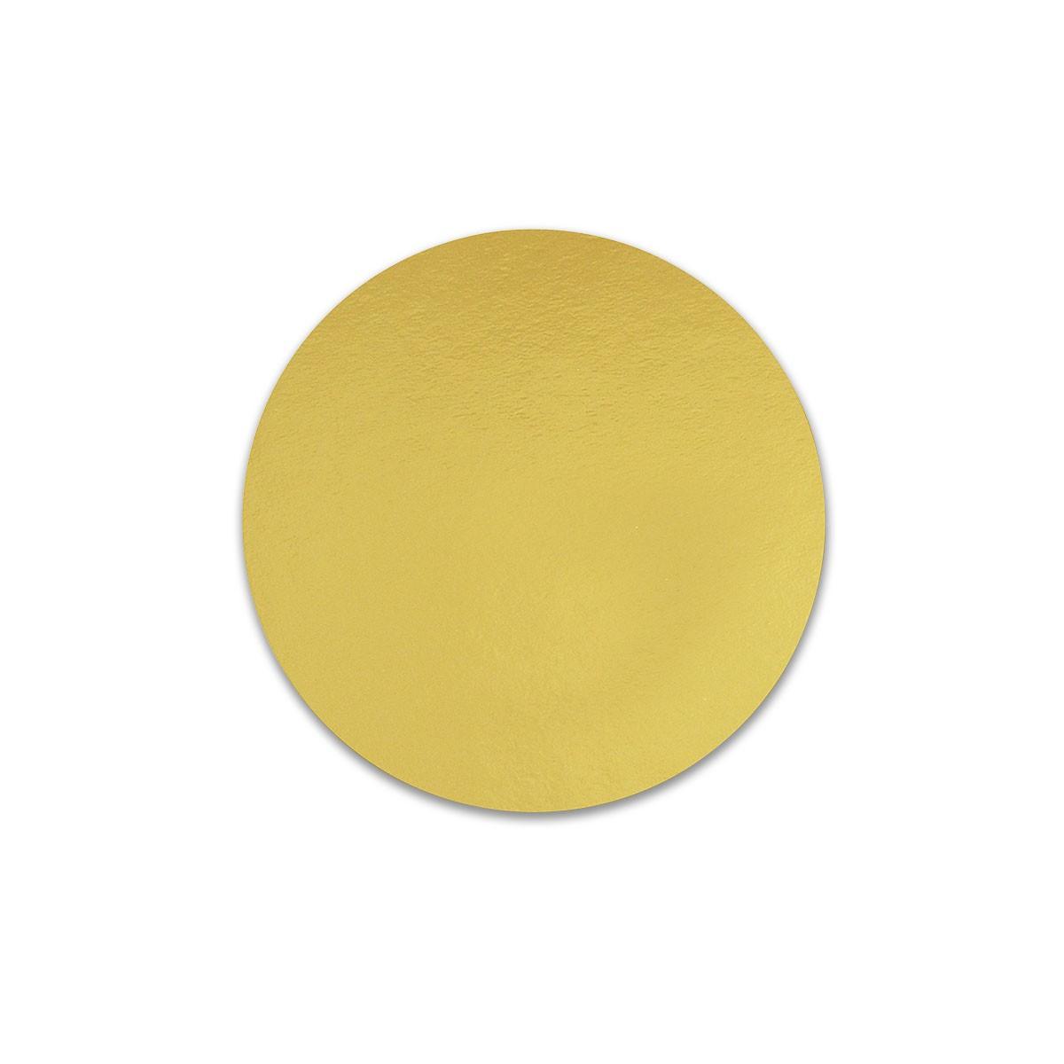 Round Cardboard Cake Base ⌀8in - Gold | 100pcs