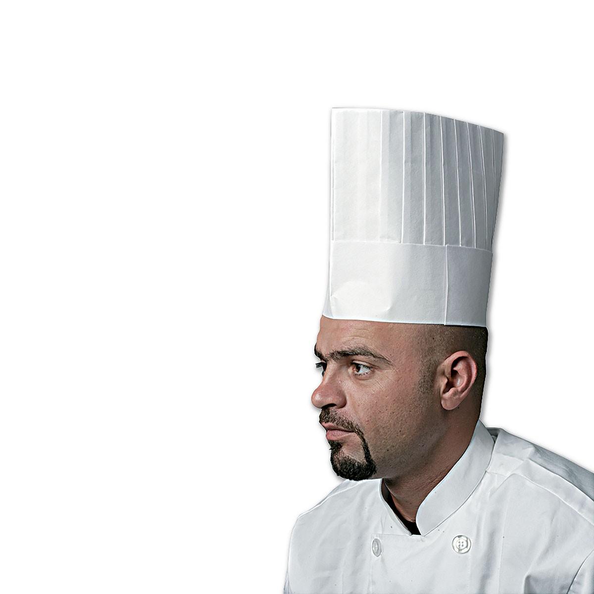 Chefs Paper Hat 9in - Flat Top   50pcsx5pkts
