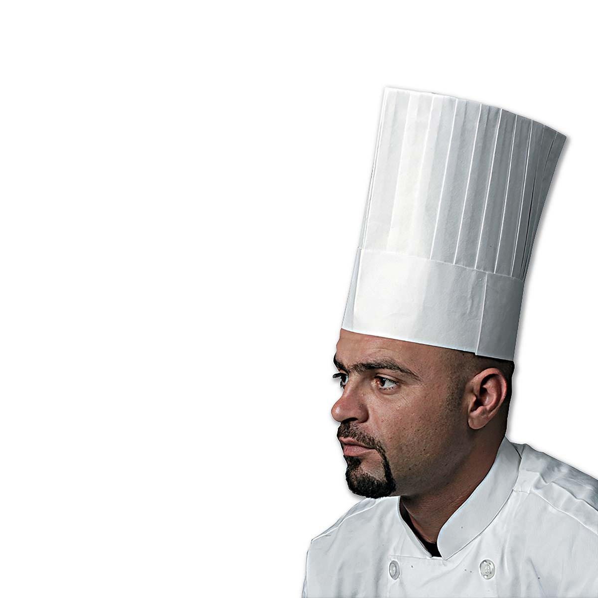 Chefs Paper Hat 10in - Round Top   250pcs