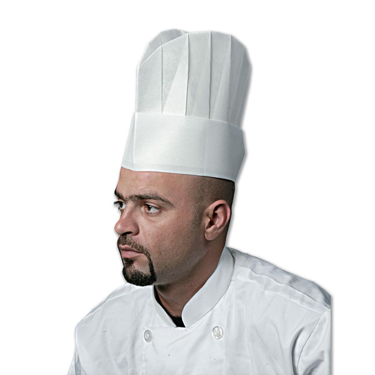 Non-woven Chef  Hat 12in - Flat Top   10pcsx10pkts