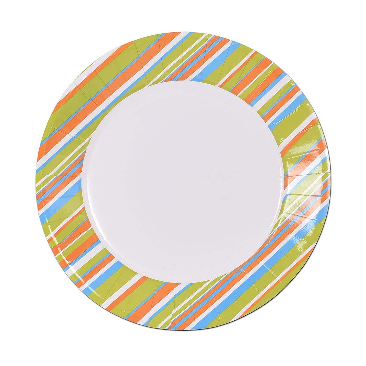 Fun® Paper Plate ⌀23cm - Evergreen 5 | 10pcsx10pkts