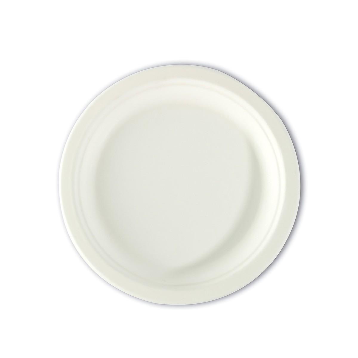 Biodegradable Moulded-Fibre Plate ⌀7in | 50pcsx20pkts