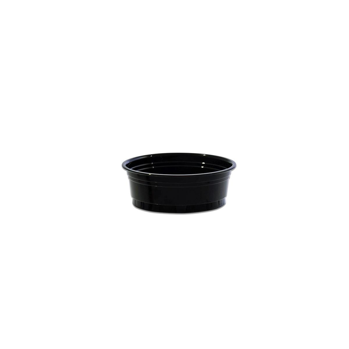 Black Portion Cups w/o Rim 3oz (100cc) PET | 50pcsx20pkts