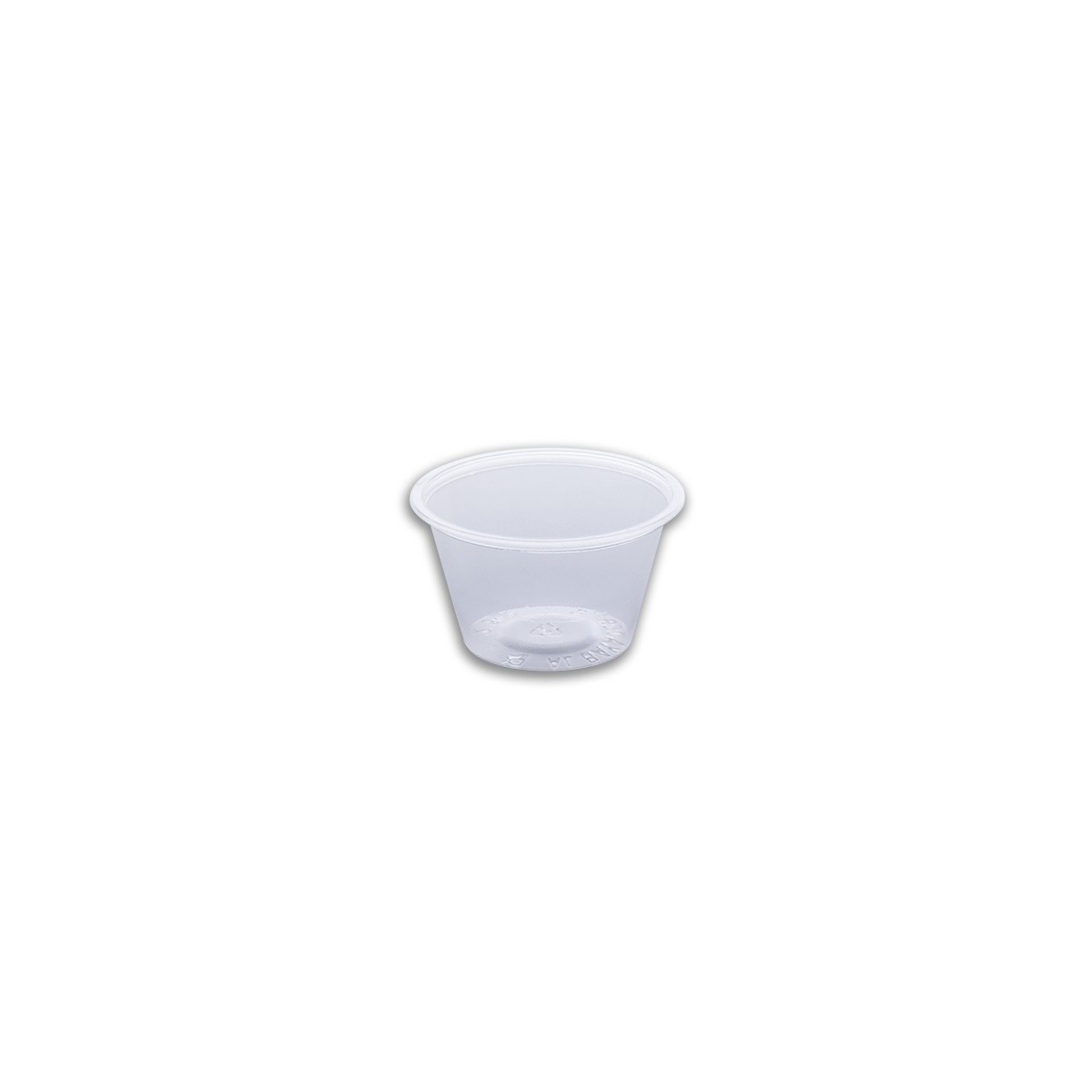 Tinypac Clear Round Portion Cup 75cc | 2500pcs