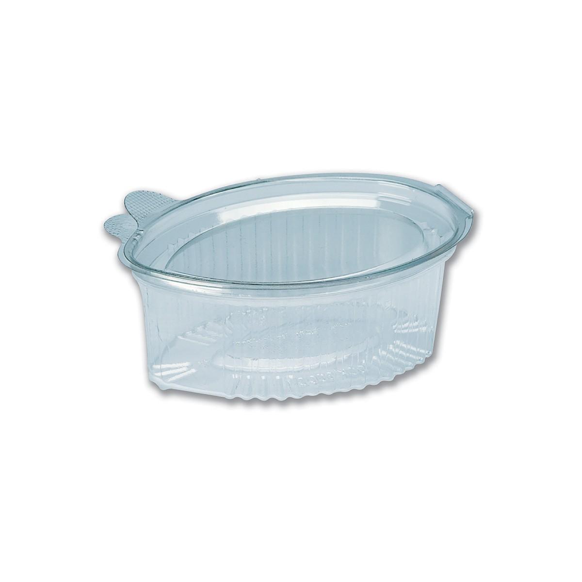 Tinypac Clear Leaf-Shaped Portion Cup w/ Lid 100cc | 1000pcs