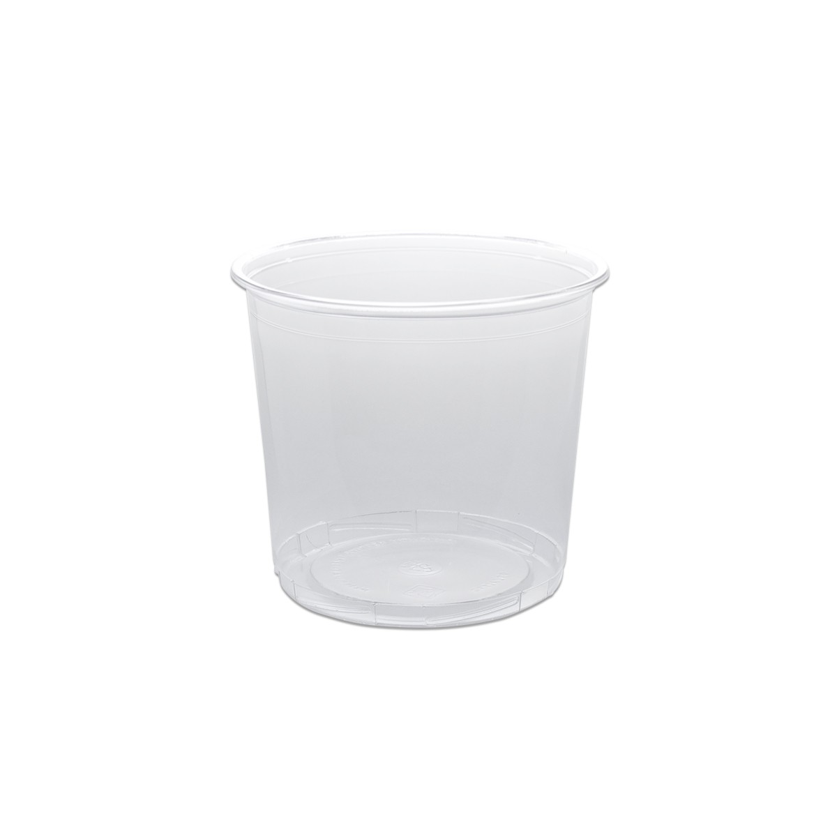 Towerpac Clear Round Container w/ Screw Base 750cc - PP | 100pcsx5pkts