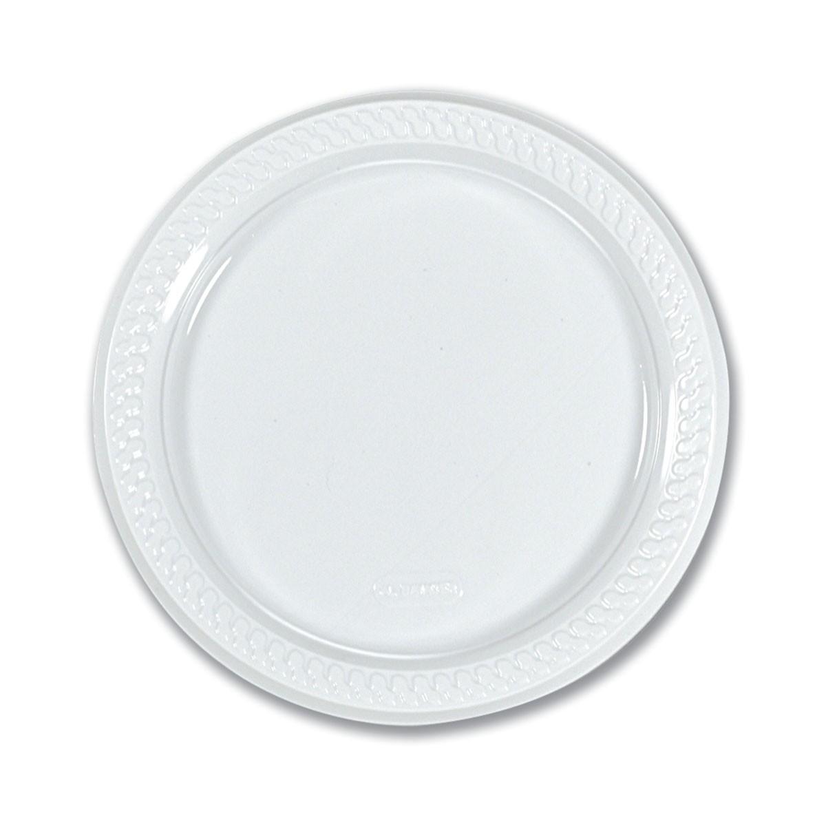 Round Plate ⌀22cm - White | 50pcsx10pkts