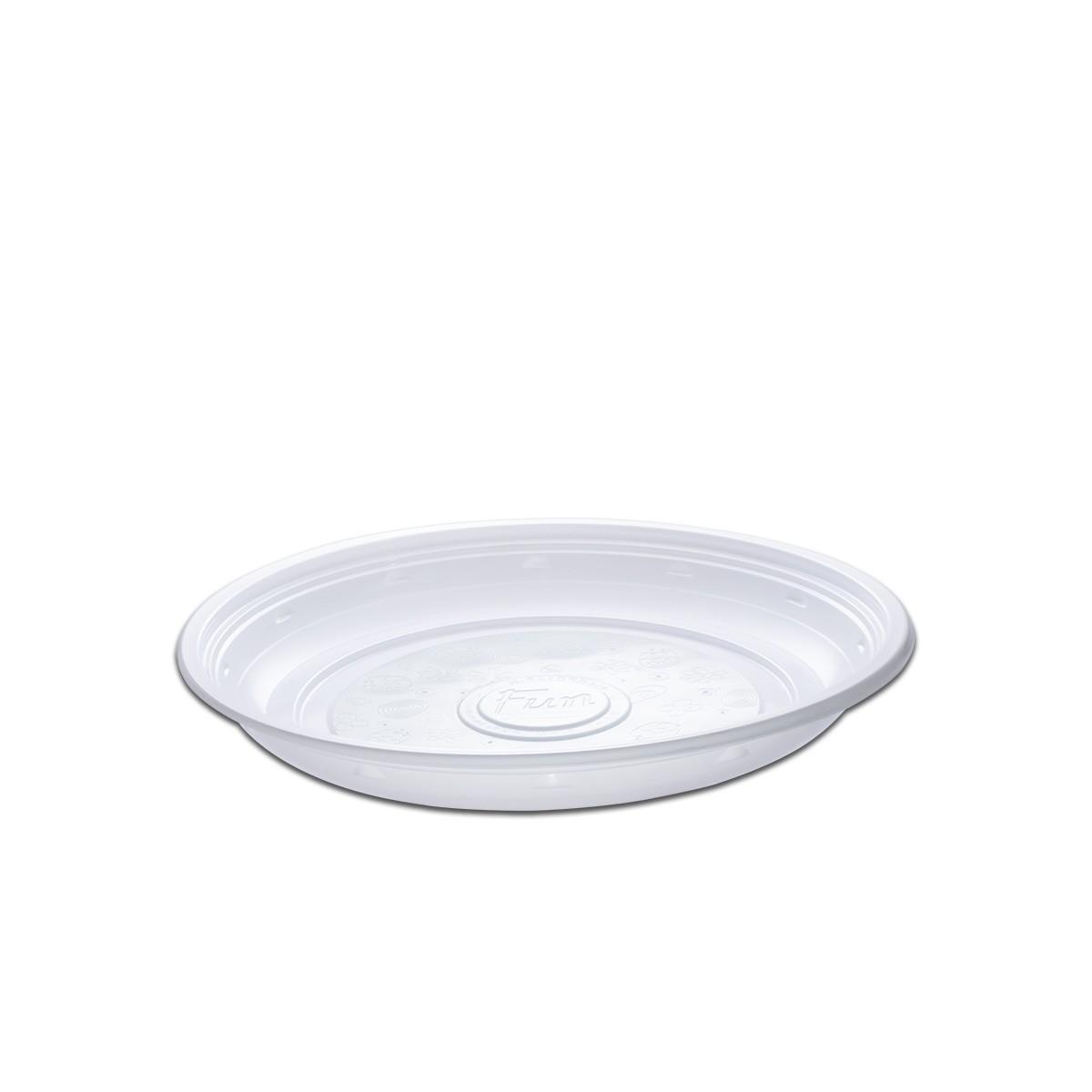 Roundpac Round Plate ⌀22cm - PP/White Deluxe   25pcsx10pkts
