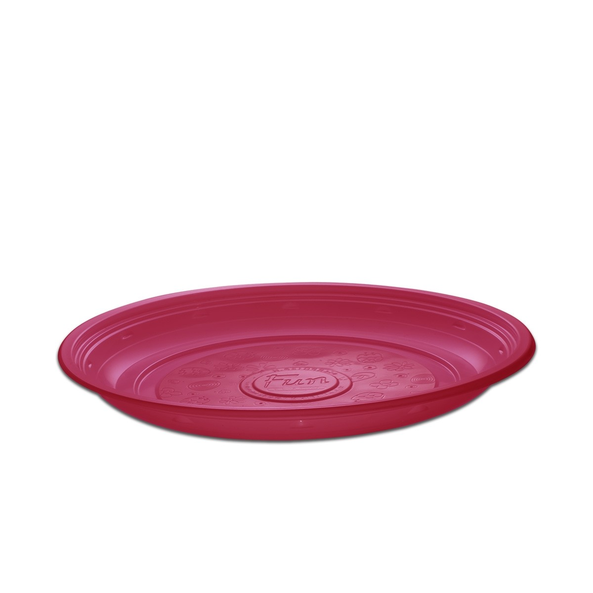 Roundpac Round Plate ⌀26cm - PP/Pink Deluxe | 25pcsx10pkts