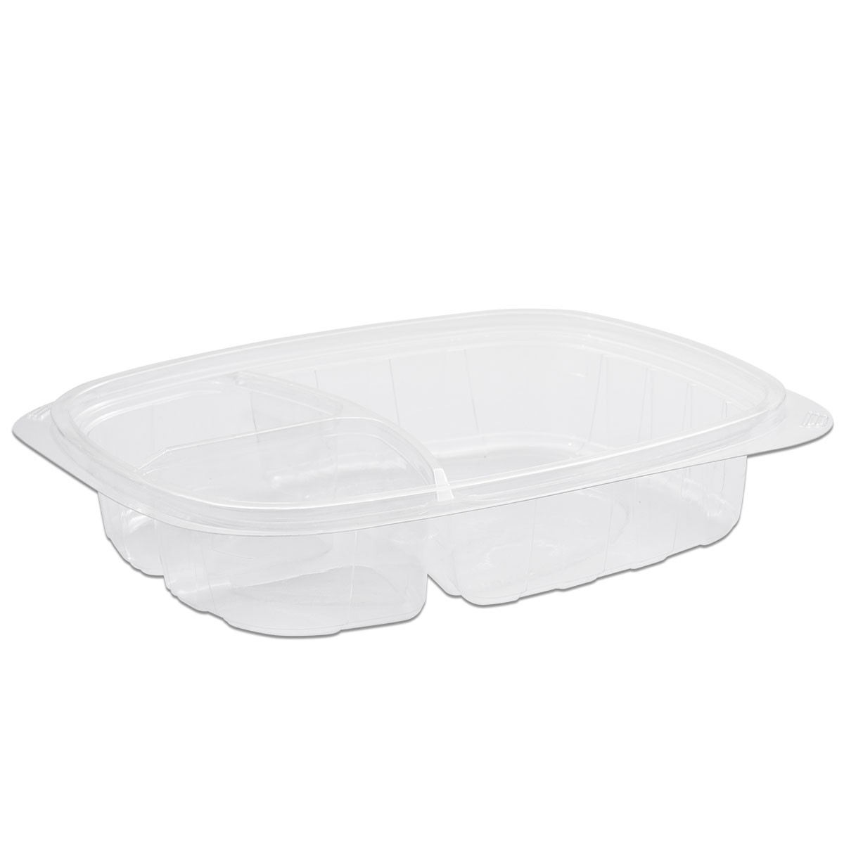 Tutipac 3-Comp Clear Hot Multipurpose Containers PP | 250pcs