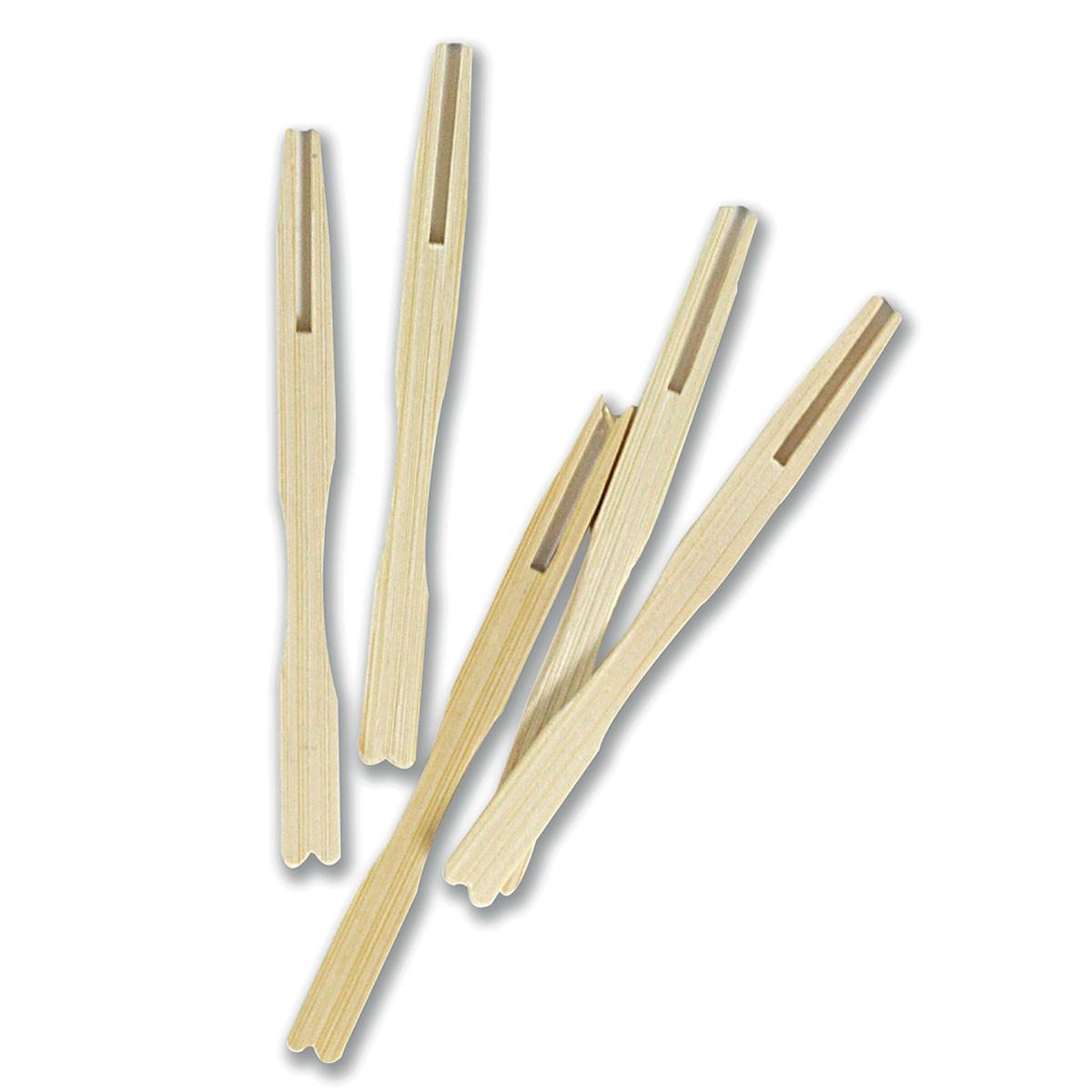 2-Prong Bamboo Pick 9.5cm | 500pcs