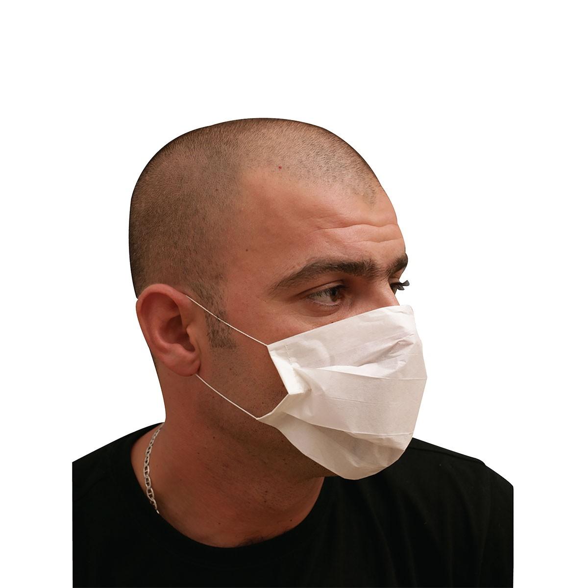 2-Ply Paper Mask - White | 100pcsx100Bxs