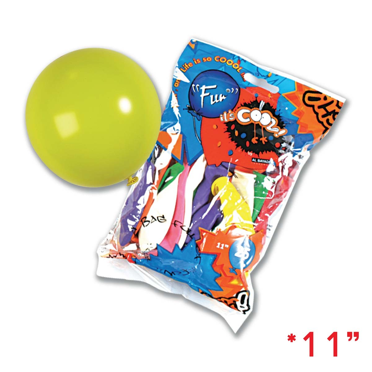 Fun® Balloons 11in Standard - Assorted Colours | 25pcsx25pkts