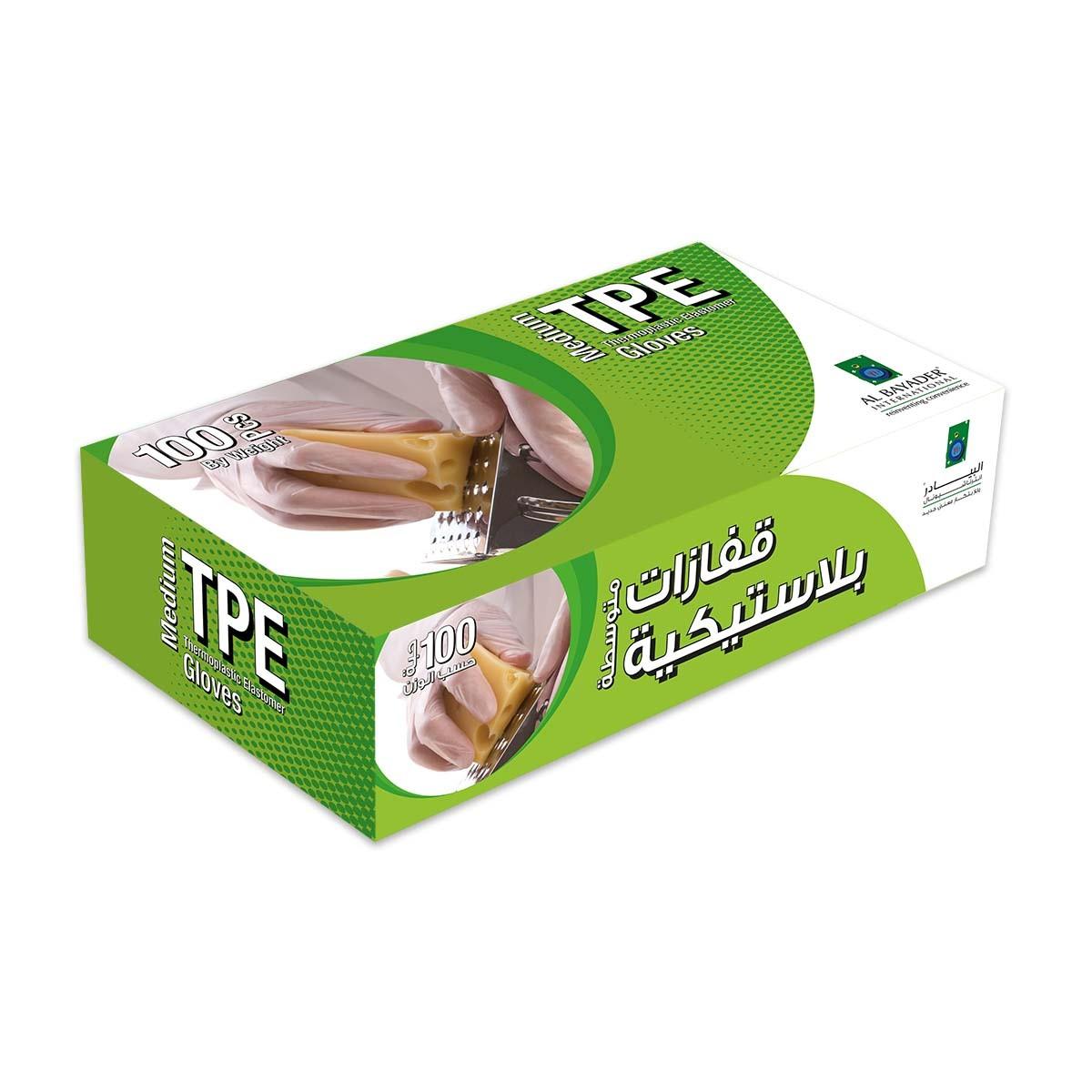 Disposable TPE Gloves - Medium   100pcsx10pkts