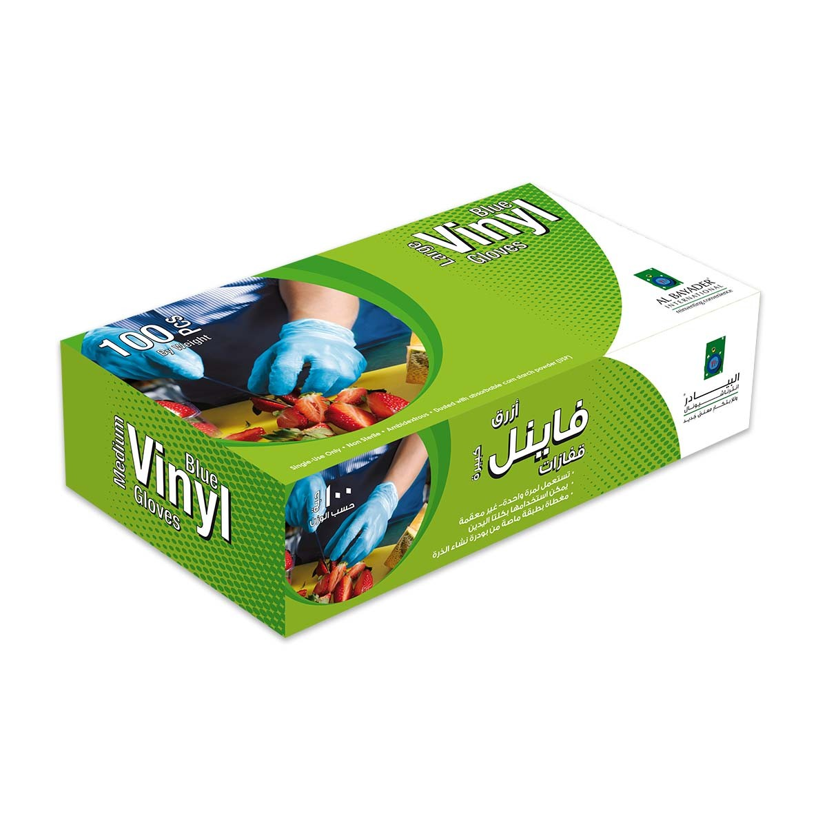 Disposable Vinyl Gloves - Large/Blue | 100pcsx10pkts