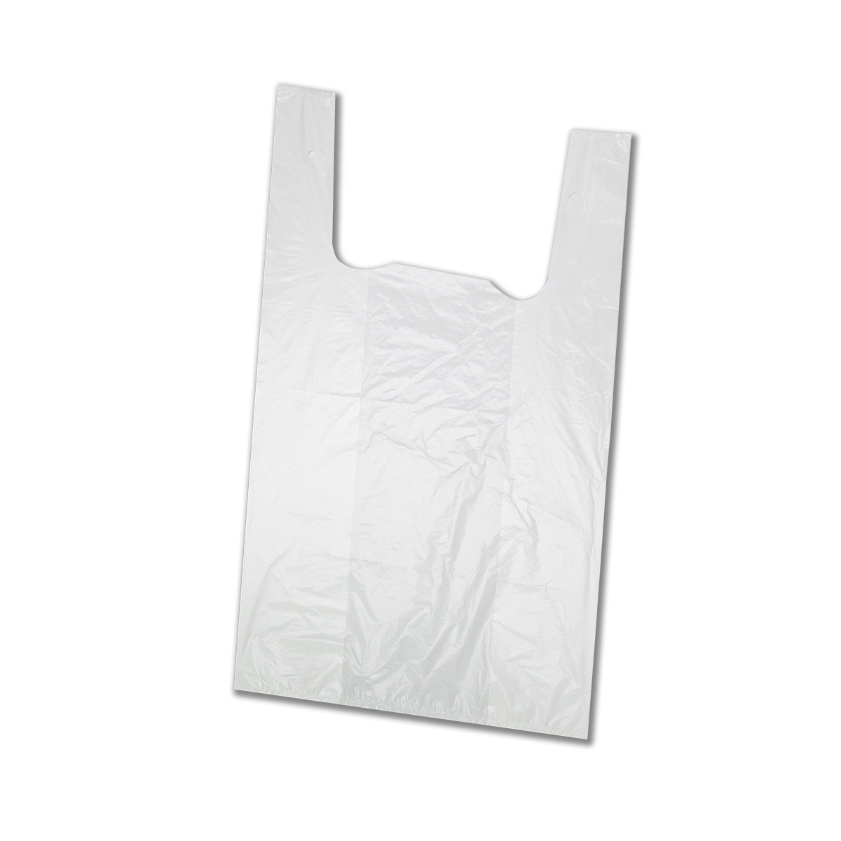 Biodegradable Large T-Shirt HDPE Plastic Bags 56x28+14cm (35Mic) | 20kgs
