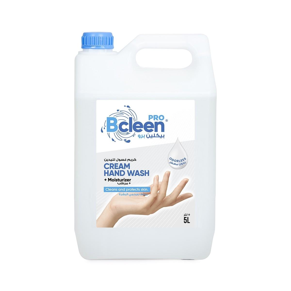 Bcleen® Pro Cream Hand Wash w/ Moisturizer 5000ml - Odorless | 4pcs