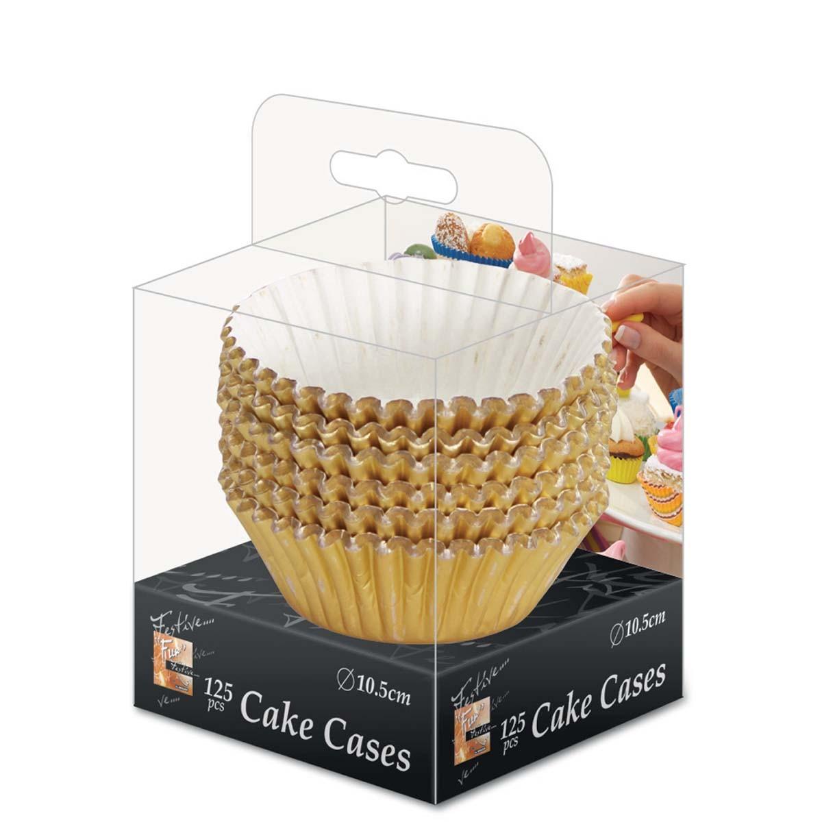 Fun® Paper Cake Case ⌀10.5cm - Gold   125pcsx32pkts