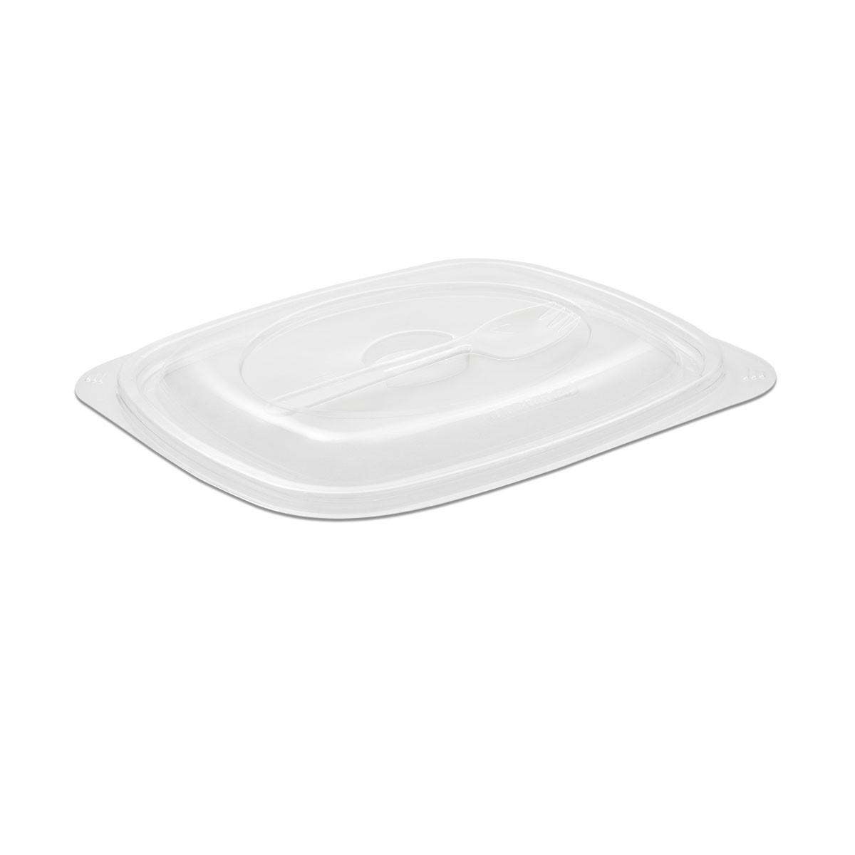 Tutipac Dome Lid w/ Spork for 24/32oz Plain Hot Multipurpose Containers PP   150pcs