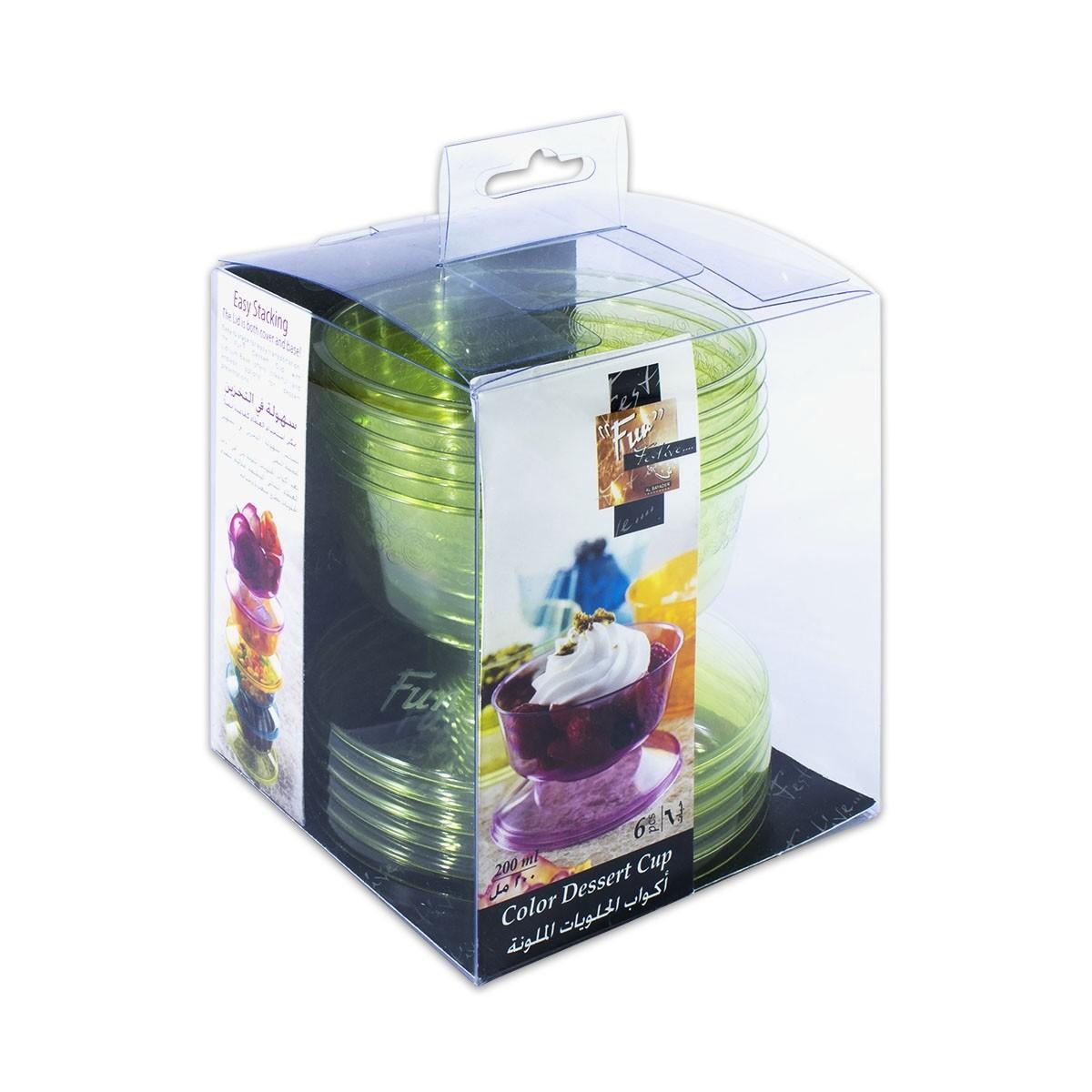 Fun® Coloured Dessert Cup - Olive | 6pcsx24pkts