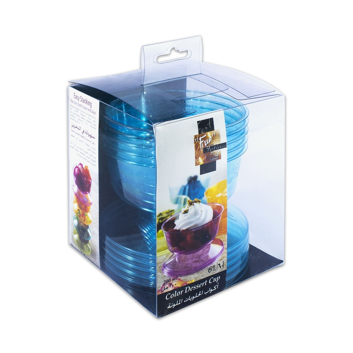 Fun® Coloured Dessert Cup - Turquoise | 6pcsx24pkts