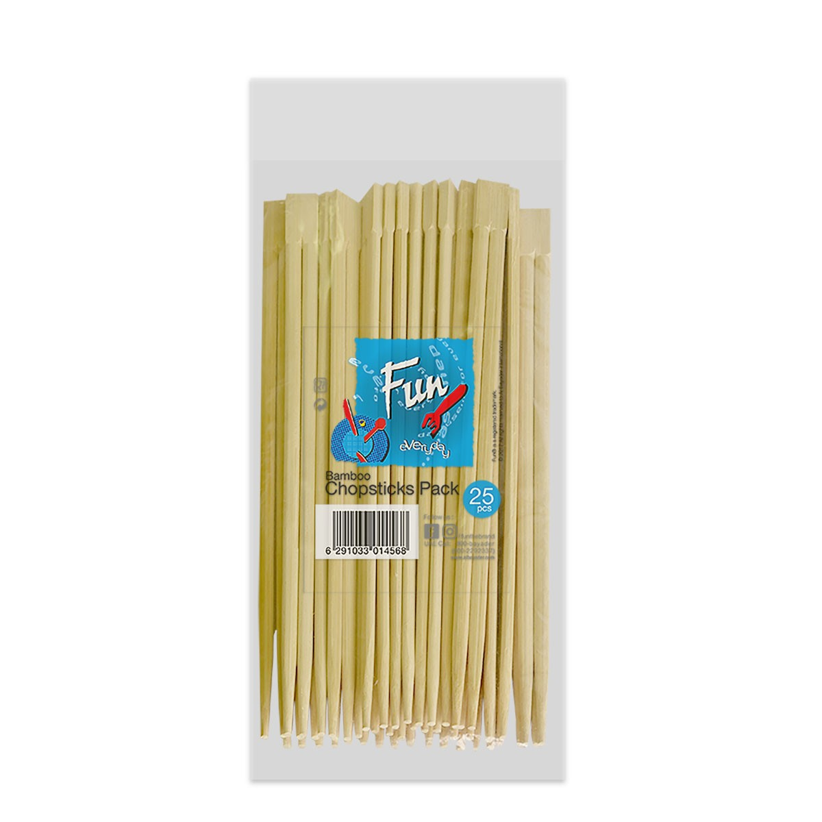 Fun® Bamboo Chopsticks 23cm | 25pcsx10pkts