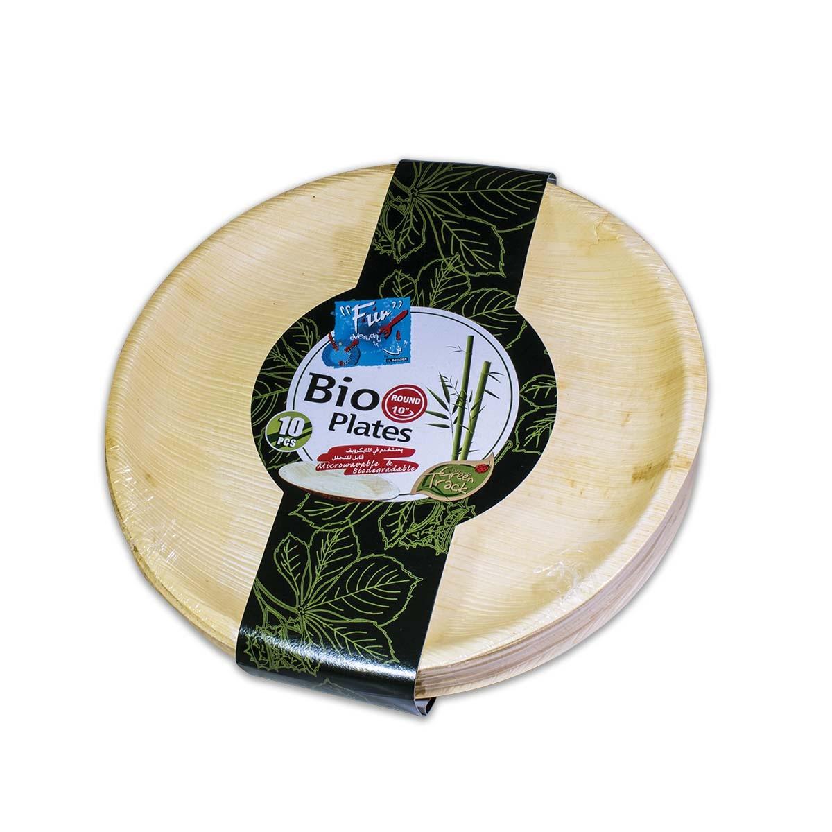 Fun® Palm Bio Leaf Round Plate ⌀10in | 10pcsx10pkts