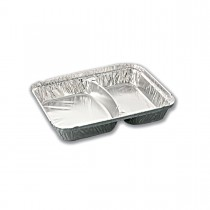 2-Comp. Aluminium Container  (16+12oz) size 227 x 178 x 29mm | 600pcs