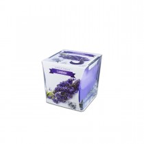 Fun® Scented Candles in Square Glass  8x8x8cm - Lavender | 1pcx6pkts