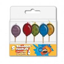 Fun® Birthday Candles  - Balloons | 5pcsx12pkts