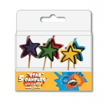 Fun® Birthday Candles  - Stars | 5pcsx12pkts