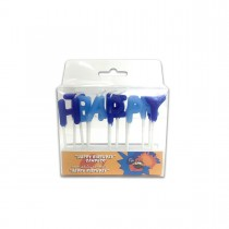 Fun® Birthday Candle  - Happy Birthday 13 Blue/white | 1pcx12pkts