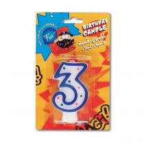 Fun® Birthday Candle - Numeral 3 | 1pcx24pkts