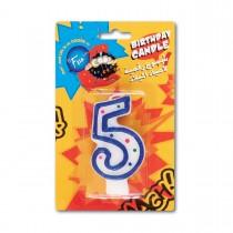 Fun® Birthday Candle - Numeral 5 | 1pcx24pkts