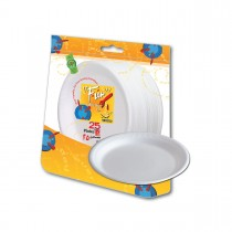 Fun® Foam Plate ⌀7in - White | 25pcsx40pkts