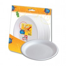 Fun® Foam Plate ⌀9in - White | 25pcsx20pkts