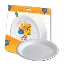 Fun® Foam Plate ⌀10in - White | 25pcsx20pkts
