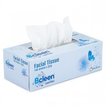 Bcleen® 2-Ply White Facial Tissue 19*21cm x 140sheets  | 30pkts