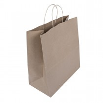 Brown Carry Bag w/ Twisted Handle 34x34+17.5cm Plain 100gsm- Large | 250pcs