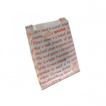 Greaseproof Printed Paper Bag 190x160+50mm | 1000pcs