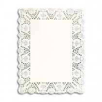 Rectangular Paper Doily 14x18in - White | 250pcsx8pkts